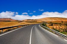Free Road On Canary Island Lanzarote Royalty Free Stock Image - 13903516