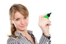 Free Woman Writing Stock Photography - 13903582