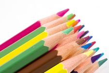 Brunch Of Colored Crayons Royalty Free Stock Images