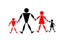Family,command, Illustration Royalty Free Stock Images