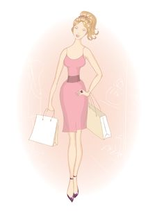 Shopping Girl With Shopping Bags Royalty Free Stock Photo