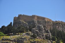 Acropolis Of Lindos. Royalty Free Stock Image