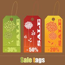 Set Of Sale Tags Royalty Free Stock Photo