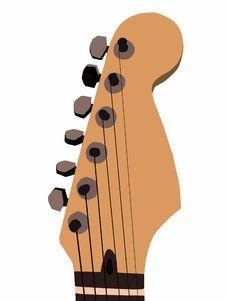 Free Guitar Head Illustration Stock Image - 13905241