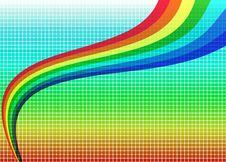 Bright Rainbow Background Stock Photos