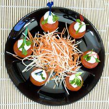 Free Mozzarella Appetizer Stock Photo - 13905920