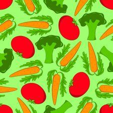 Free Seamless Vegetables. Stock Photo - 13905970