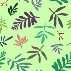 Free Seamless Background With Leaves Royalty Free Stock Image - 13906066
