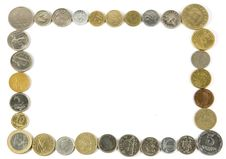 Frame Of Coins Stock Images