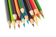 Free Isolated Colour Pencils Royalty Free Stock Photo - 13906785