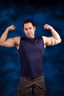 Free Man With Large Muscles Royalty Free Stock Photo - 13907375