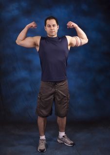 Free Man With Strong Arms Royalty Free Stock Photography - 13907377