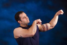 Free Muscular Hispanic Man Stock Photography - 13907382