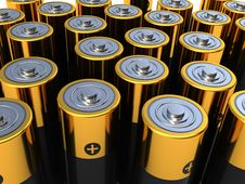 Free Battery Background Royalty Free Stock Photo - 13908095