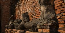 Free The Row Of Ruined Buddha. Royalty Free Stock Photos - 13908148