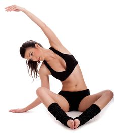 Free Young Beautiful Woman Doing Yogatic Exercise Royalty Free Stock Photos - 13908598