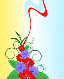 Free Bright Bouquet Of Wildflowers Royalty Free Stock Photos - 13908648