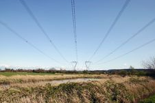 Free Power Line And Tower Royalty Free Stock Images - 13908749
