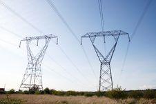 Free Power Line Tower Stock Image - 13908751