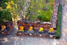 Free Buddha Statues At Temple Wat Yai Chai Mongkol Stock Image - 13909181