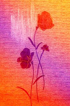 Red Poppies On The Canvas. Royalty Free Stock Photography