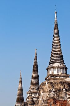 Free Famous Temple Area Wat Phra Si Sanphet Royalty Free Stock Photo - 13909625