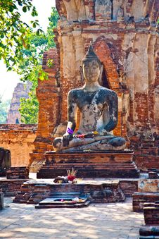 Buddha Statue In Mahathat Temple Stock Image