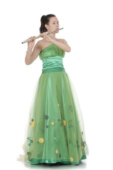 Free Flautist Royalty Free Stock Image - 13912096