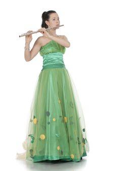 Free Flautist Royalty Free Stock Image - 13912106