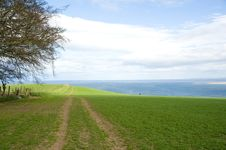 Free Farmland By The Sea. Stock Photography - 13912172