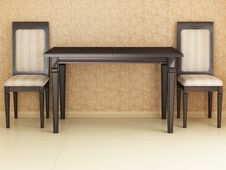 Free Dinner Table With Chairs Stock Photos - 13912993
