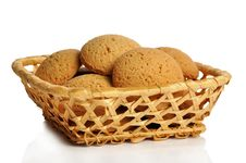 Free Cookies In A Basket Stock Photos - 13913573