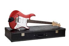 Red Electric Guitar Royalty Free Stock Image