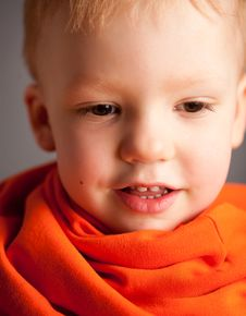 Free Portrait Of Emotional Pretty Little Boy Stock Images - 13914354