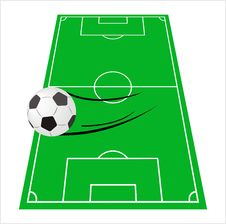 Free Ball On A Green Football S Field Stock Images - 13915304