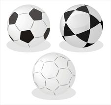 Free Three  Balls On White Background Stock Photos - 13915313
