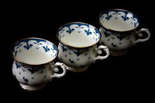 Free Three Tea Cups On Saucer Royalty Free Stock Photography - 13915387