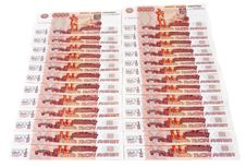 Free Bills 5000 Russian Roubles Stock Images - 13915434