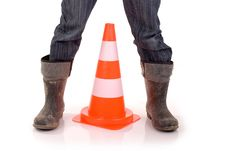 Free Caution. Royalty Free Stock Photography - 13915697