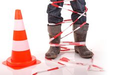Free Caution! Road Works. Royalty Free Stock Photo - 13915715