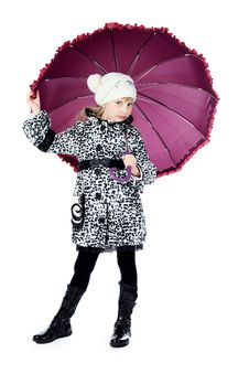 Free Girl With Umbrella Stock Photos - 13916313