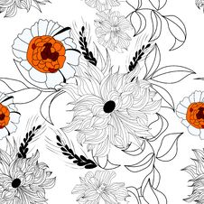 Free Floral Seamless Pattern Royalty Free Stock Photo - 13916485