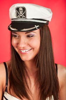 Free Girl In Pirate Cap Stock Image - 13916691