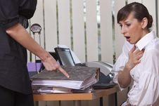 Free Secretary In Stress Stock Photo - 13917350