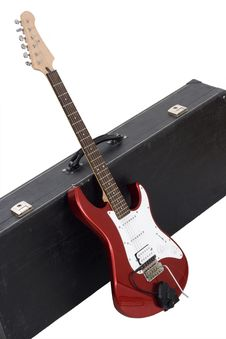 Red Electric Guitar Stock Images
