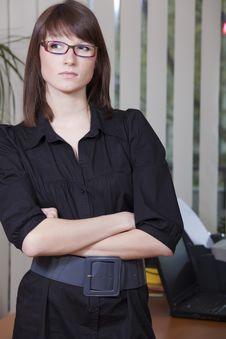 Free Female Employee In Office Royalty Free Stock Image - 13917396