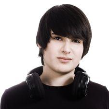 Free Boy With Headphones Stock Photos - 13917483
