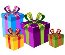 Free Vector Colorful Gift Boxes Royalty Free Stock Photo - 13917595
