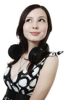 Free Girl With Headphones Stock Photos - 13917753