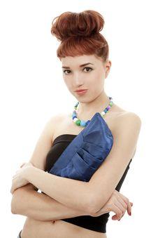 Young Woman With Handbag Stock Image